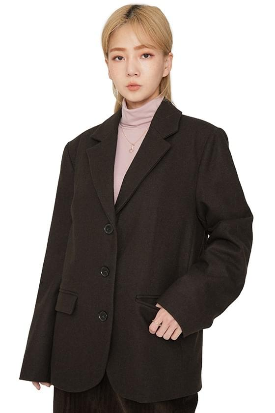 Chess single wool blazer 夾克外套