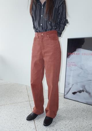 plain corduroy color pants