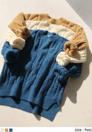 Unbalanced Hem Twist Knit Top