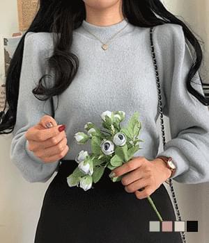 Levital puff half-neck knit T-shirt 針織衫