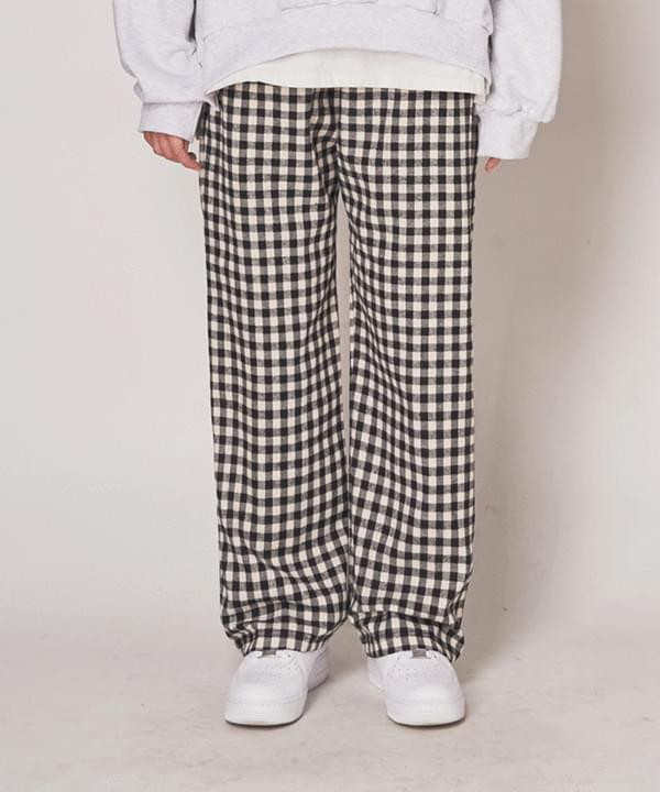Kano check home wear trousers