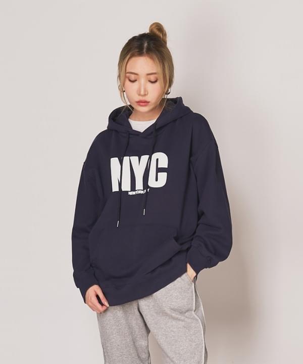 Nwa lettering over hoodie