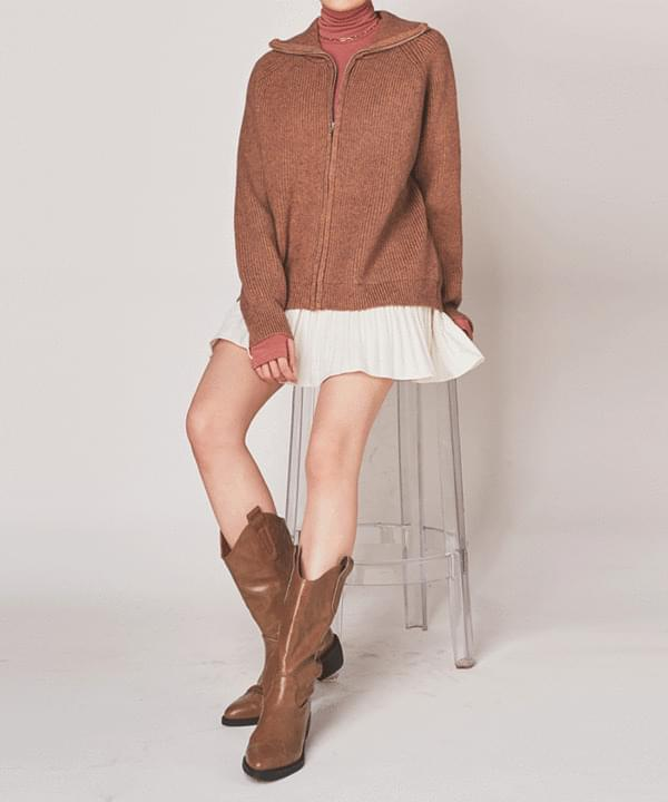 Tay Rouge Knit Zip-Up