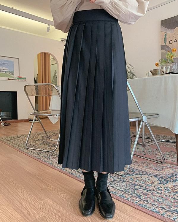 Hanel pleated long skirt