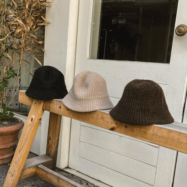 New winter knit bungagee hat bucket hat 3color
