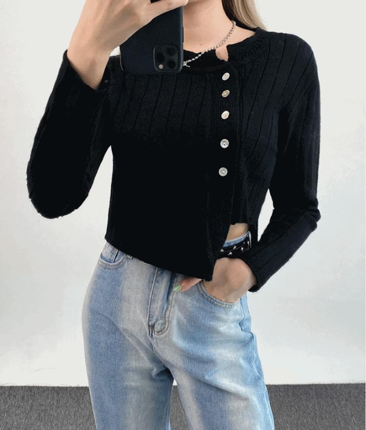 Unfoot cropped cardigan 開襟衫
