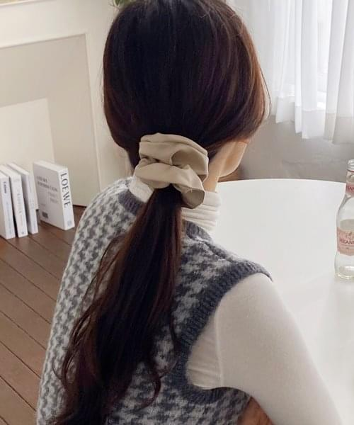 leather scrunchie 配飾