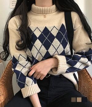 Farrell Argyle Polar Knit 針織衫