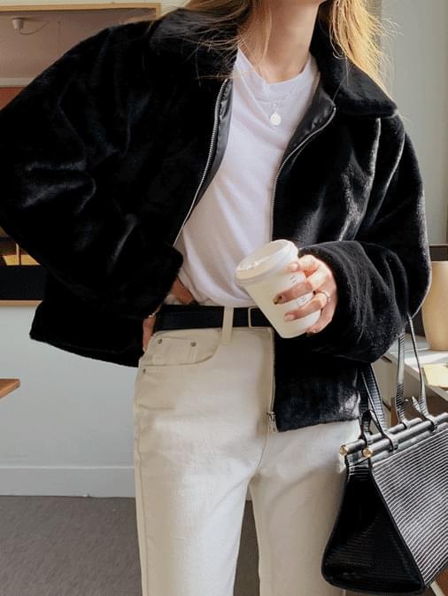Bill's fake mink fur jacket