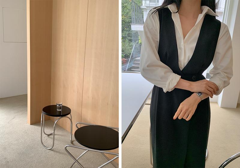 Autumn Color Basic Cotton Shirt
