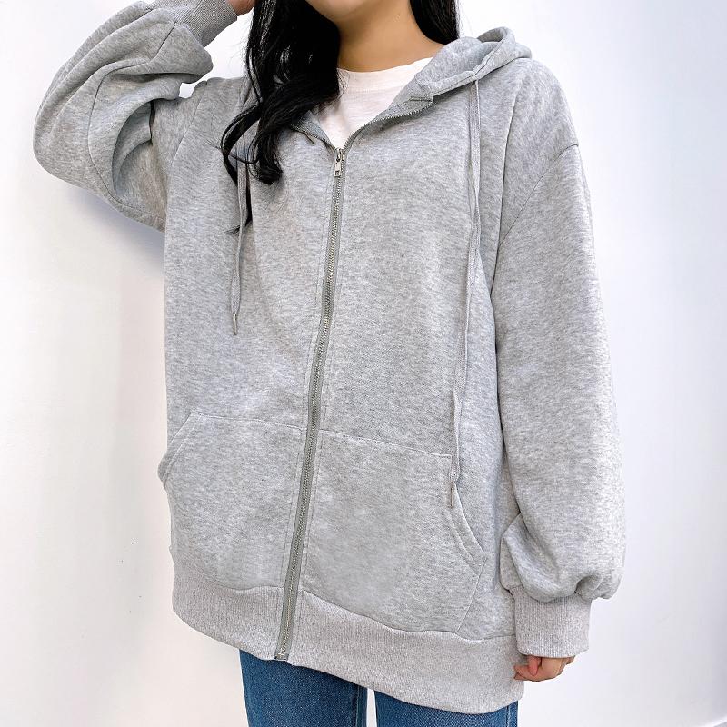 Chilseu Daily Fleece-lined hooded zip