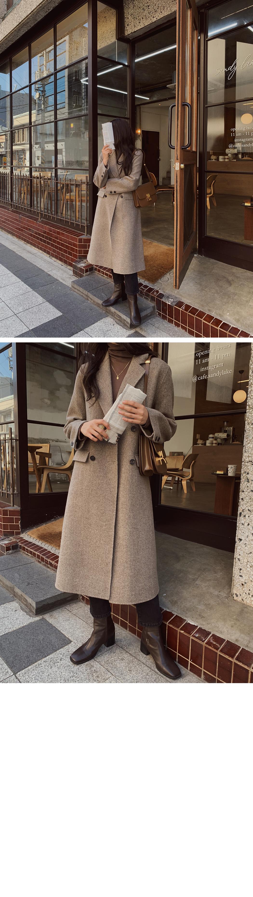 Herringbone Double Handmade Coat