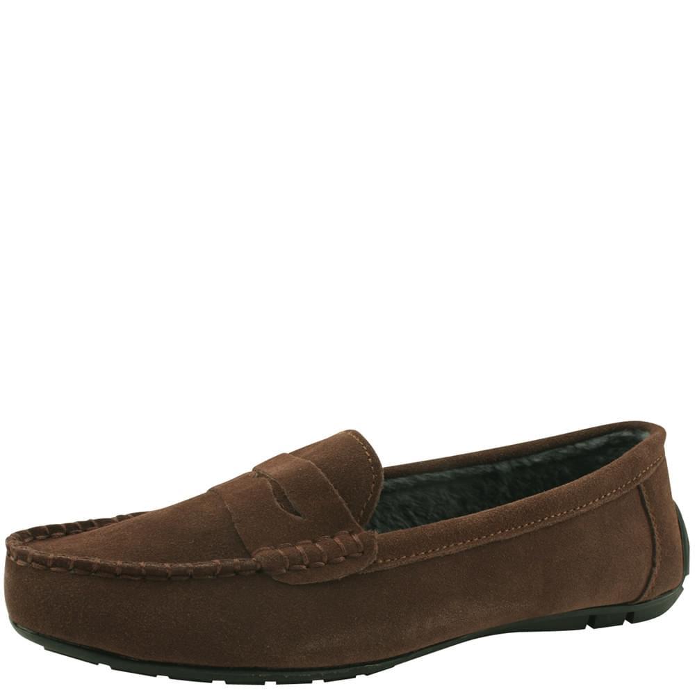 韓國空運 - Cowhide Driving Fur Loafers Brown 樂福鞋