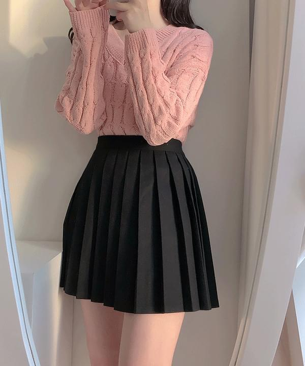 Self-made ♥ All-day pleated pleated skirt スカート