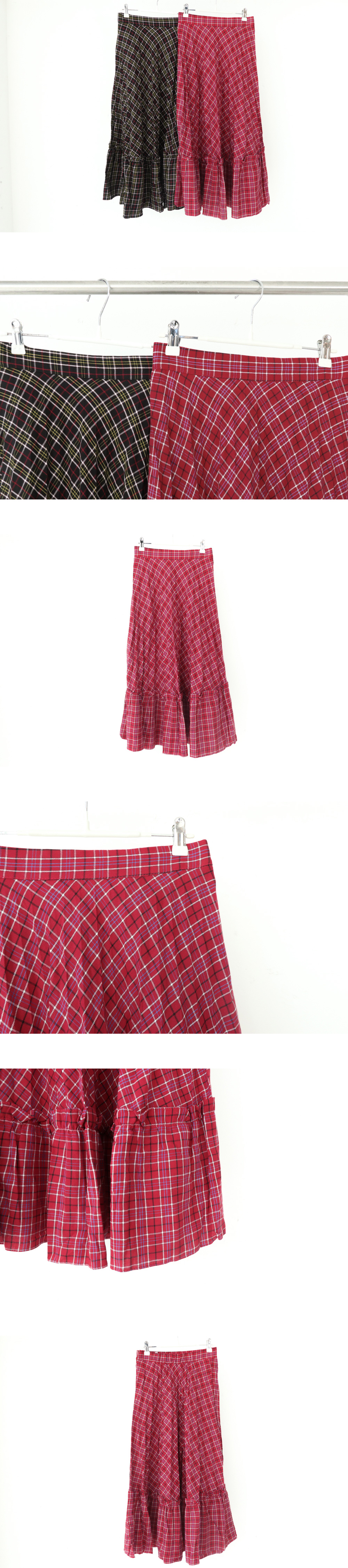 Ruby pleated long skirt