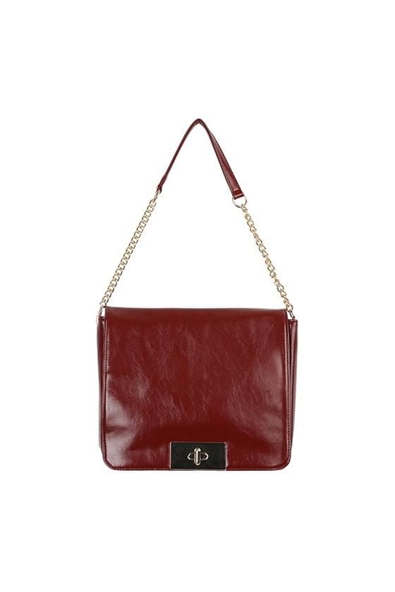 Vintage brin square chain shoulder bag