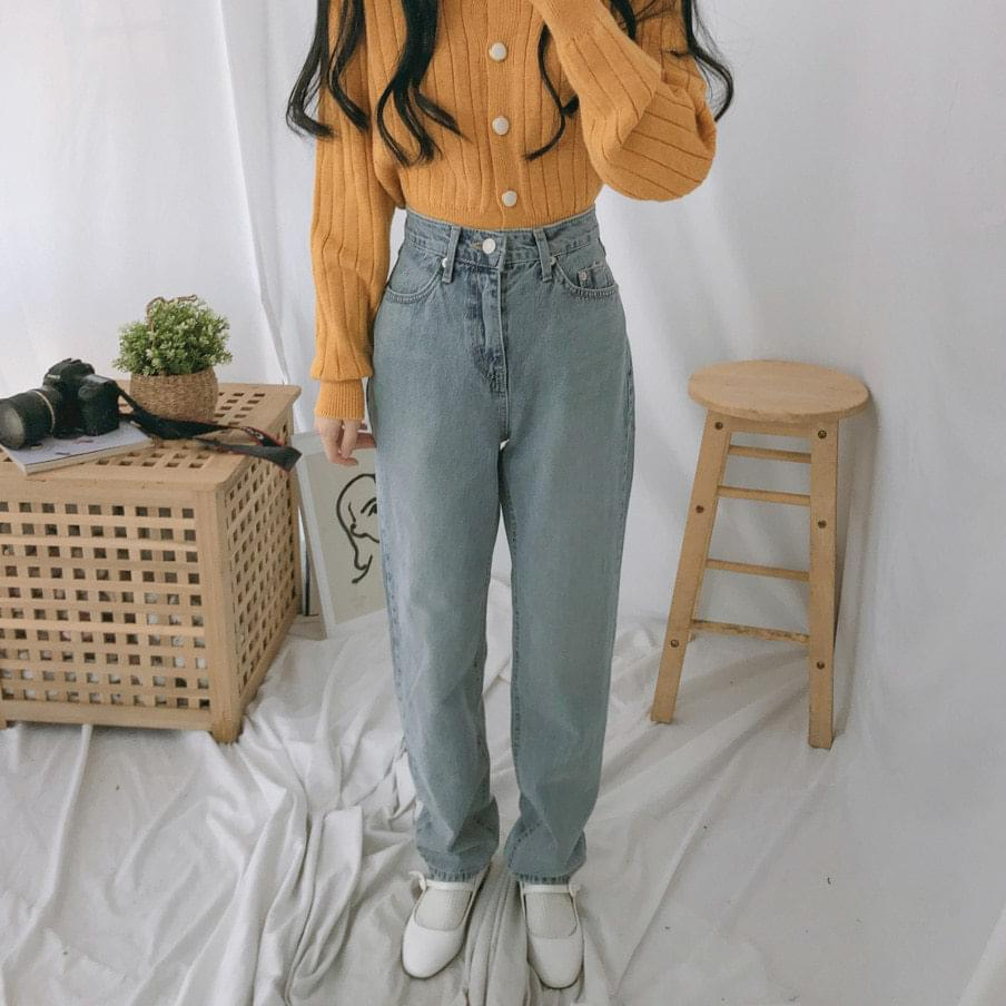 2503 light blue baggy denim pants