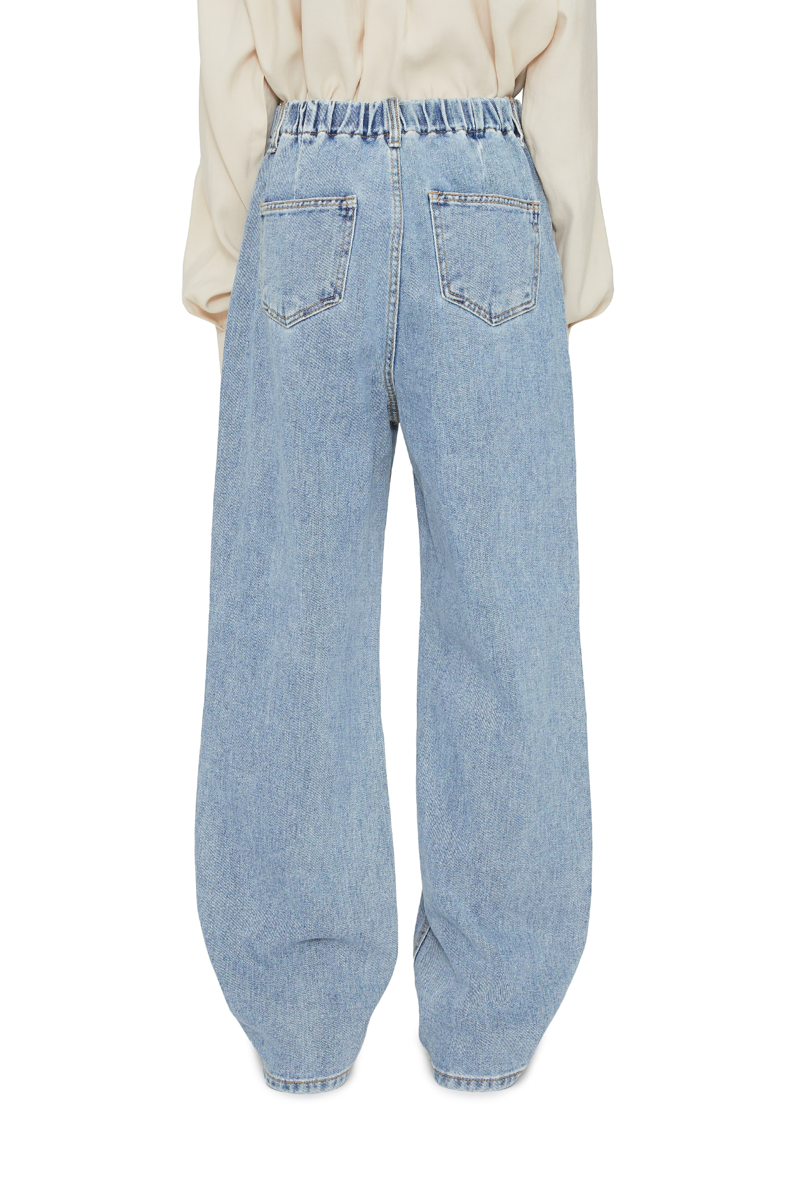 Salt banding wide jeans