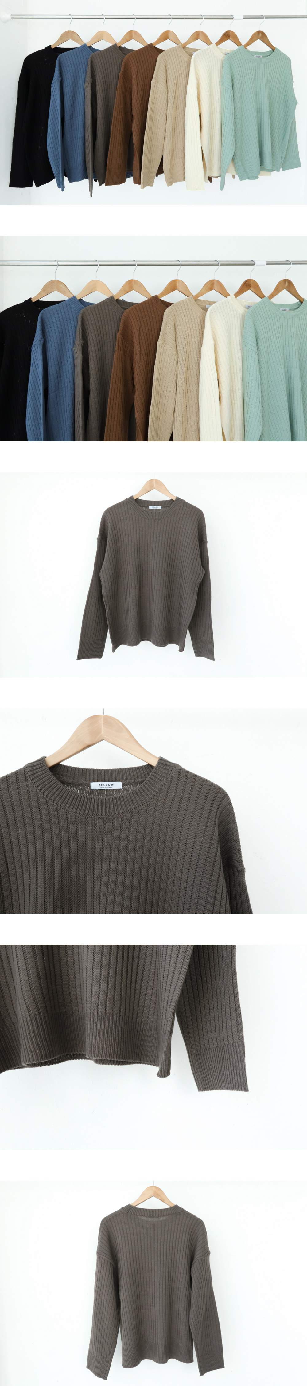 Half ribbed round knit