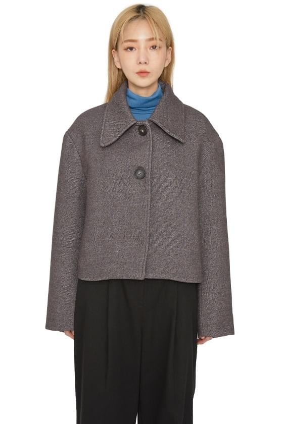 Standing collar button-up jacket