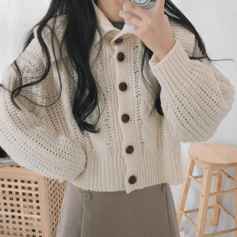 506 Sera Kara Twisted Knit Cardigan