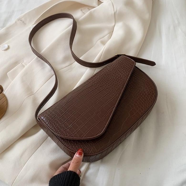 Urban Bros Crocker Unique Diagonal Leather Bag