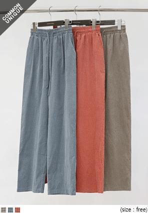 CORDUROY CHECK BANDING PANTS