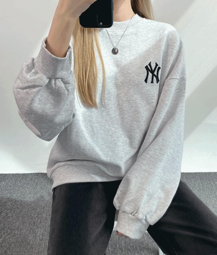 New York embroidered sweatshirt 長袖