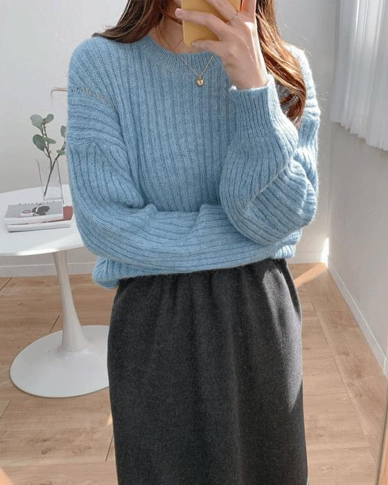 Thank you sale♥ Ribbed alpaca wool knit-4color