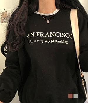 프란시스코 기모 루즈핏 맨투맨