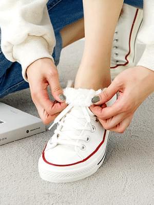 Maiden high-top fur sneakers 3cm 球鞋/布鞋