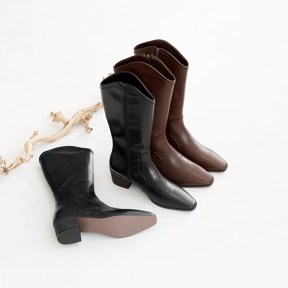 Rotetsu Western Long Boots 5cm 靴子
