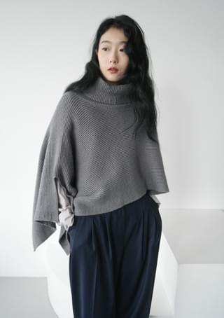 diagonal knit shawl