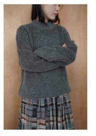 fluffy cozy knit top