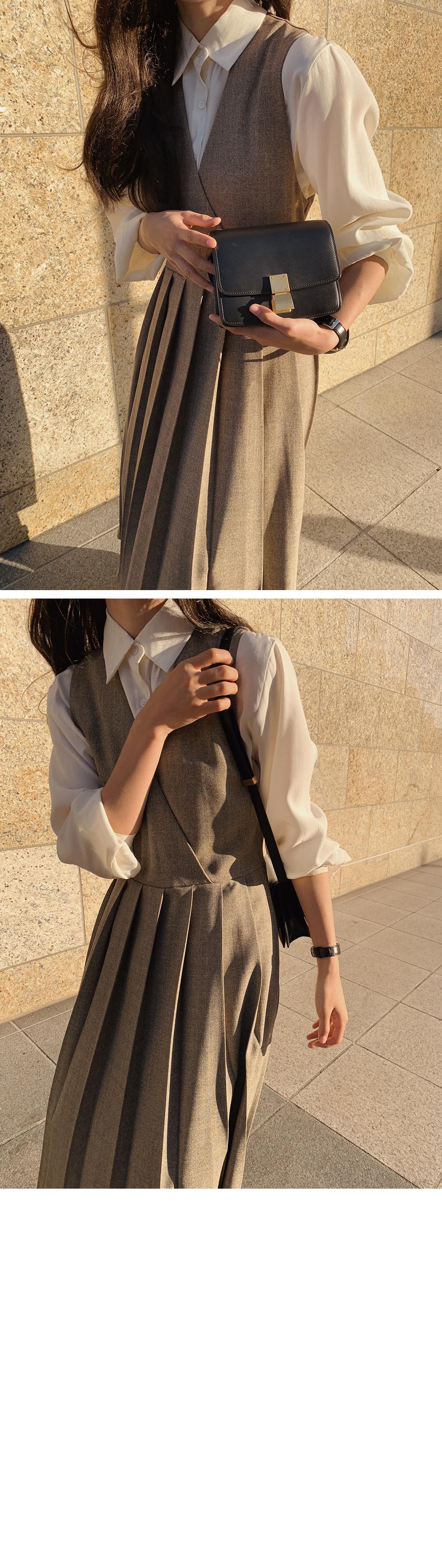 Peach Cube Shirred Shirt Blouse