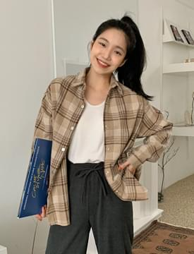 Chocolate Chip Loose Fit Check shirt