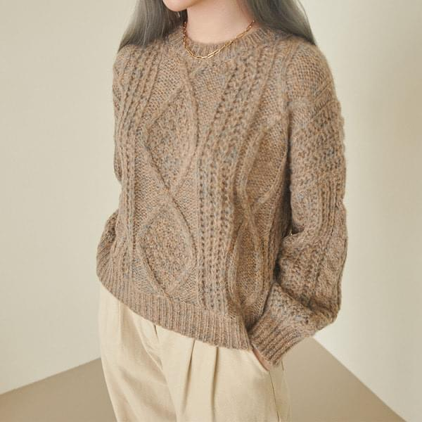 Lily Twisted Diamond Knit 針織衫