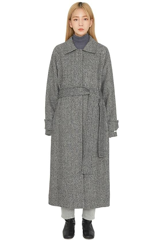 Need Herringbone Handmade Long Coat coat