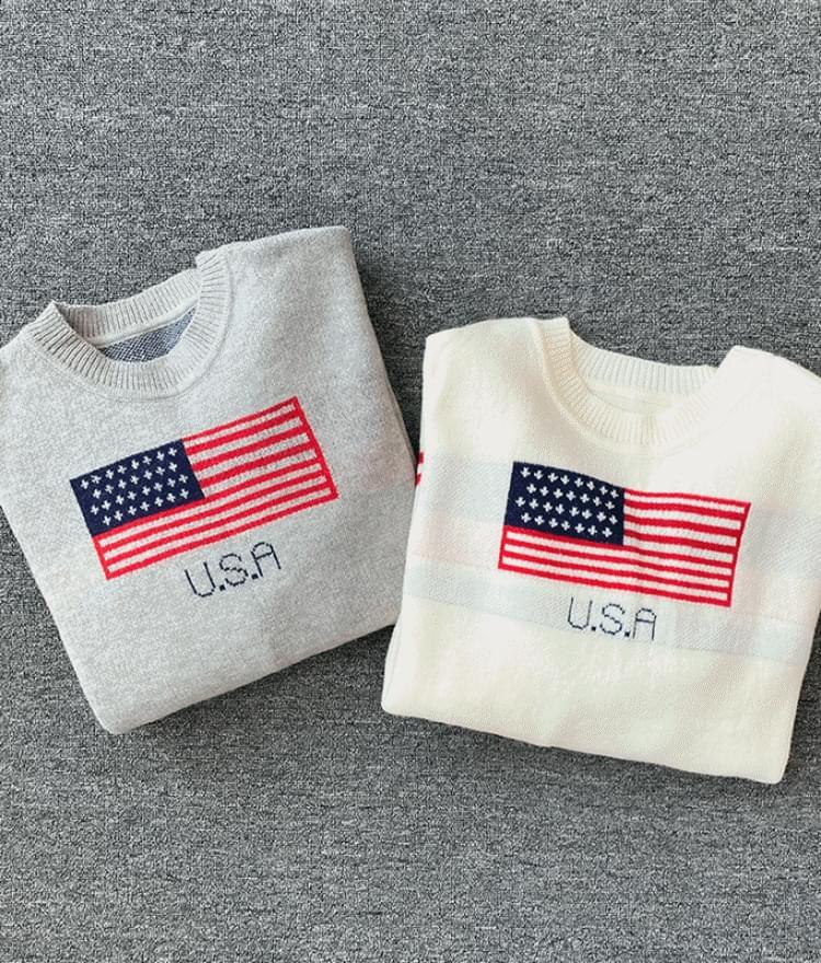 USA 오버핏 니트