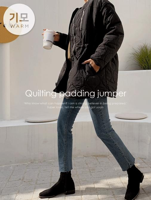 Overfit String Qualified Padded Jumper