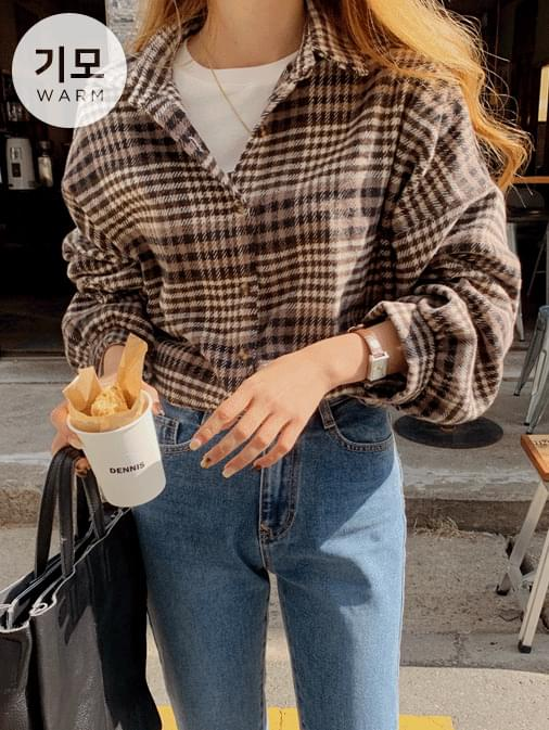 Nice Out Raised Check Overfit shirt