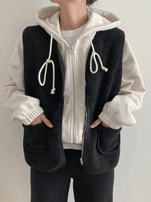 Wool Zipper Vest