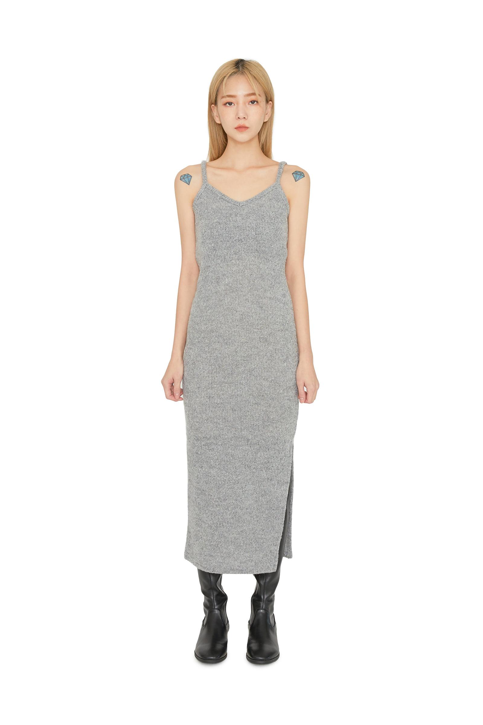 Shua slit-knit midi dress