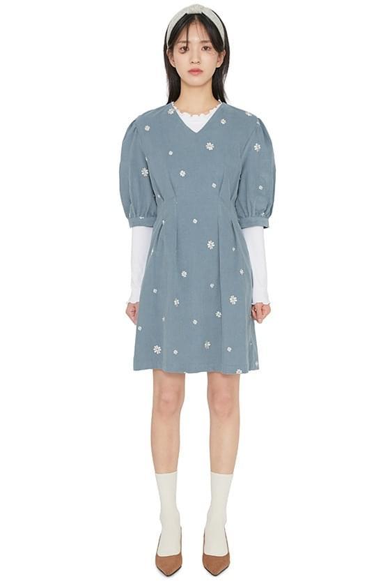 Margarine corduroy mini dress