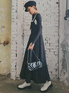 Bustier Lett Long Dress 洋裝