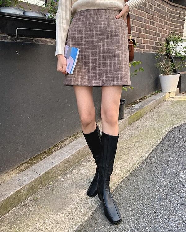 Kerin check mini skirt