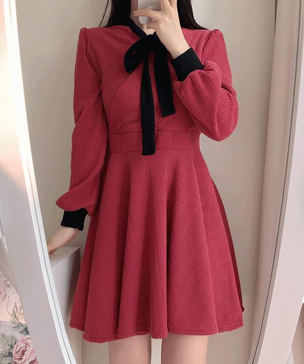 Dry Rose Color Knit Dress 洋裝