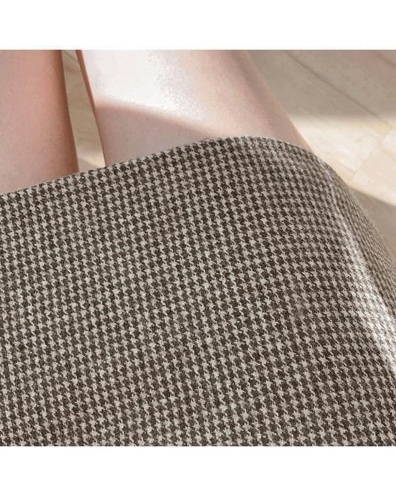 Wool check skirt-2color