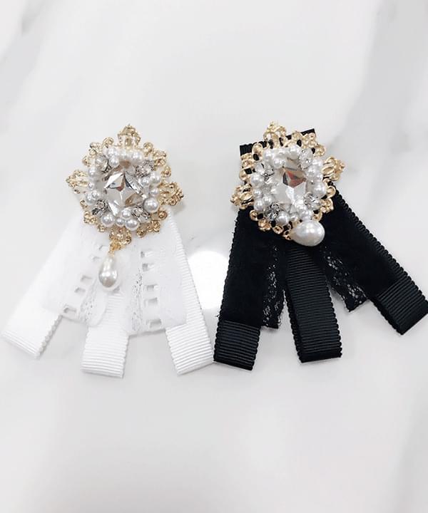 9900 Rosa pearl diamond brooch 配飾