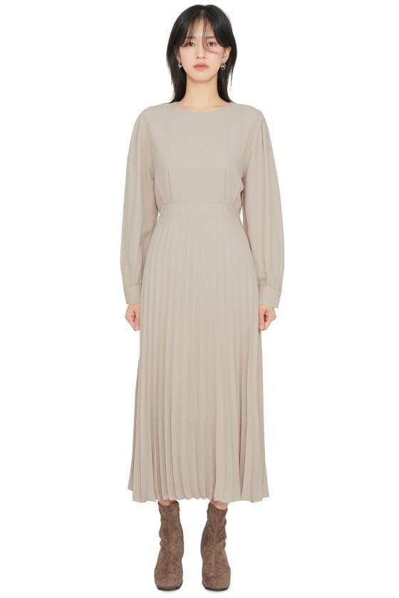 Lodi pleated midi dress